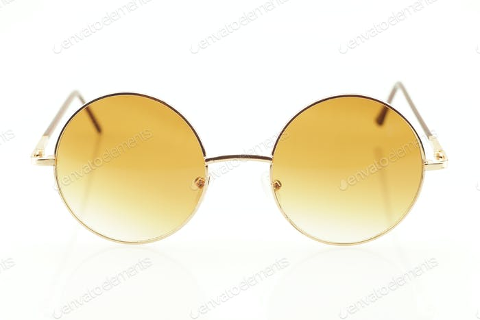 Closeup of eyeglasses