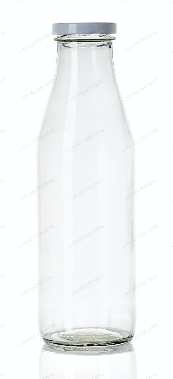 empty milk bottle