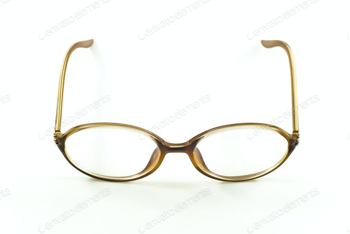 nerd eye glasses, isolated