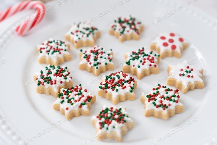 Weihnachten Schneeflocke Cookies