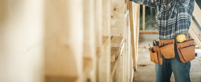 Wooden House Skeleton Construction