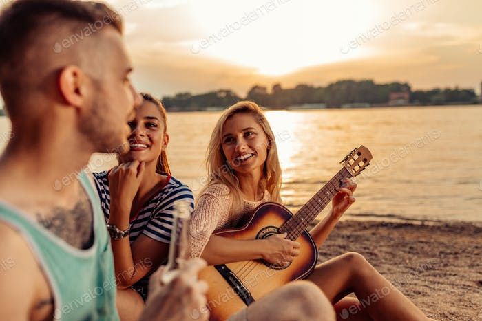 All you need are friends and a guitar