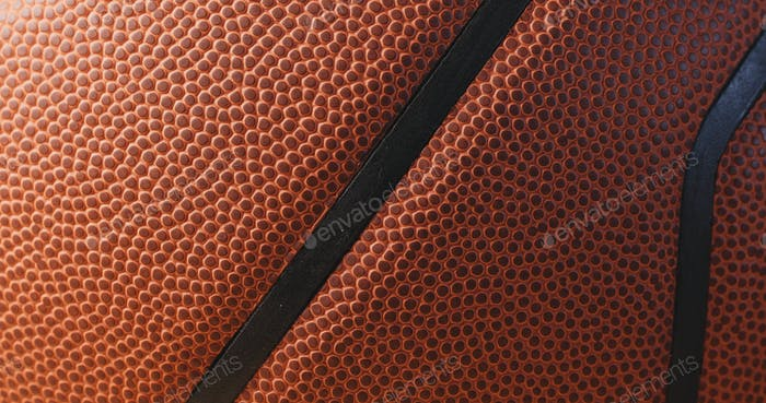 Leather Basketball skin texture close up