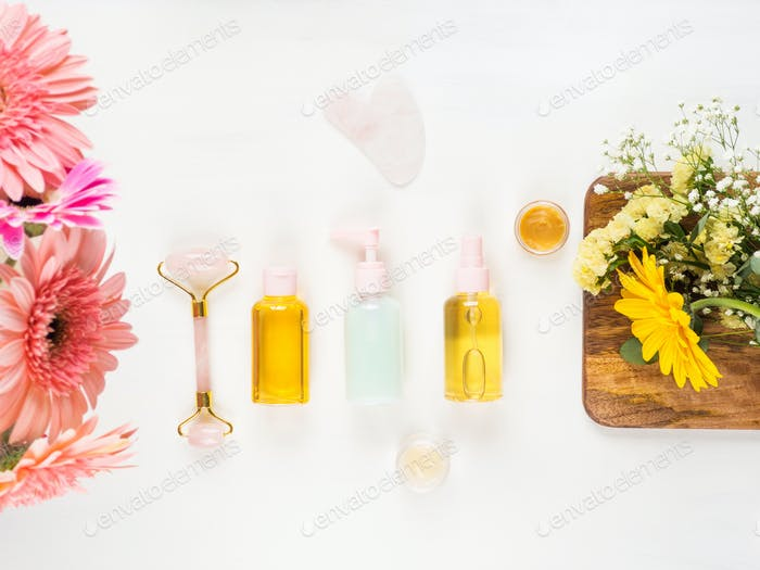 Beauty skin care products and face roller