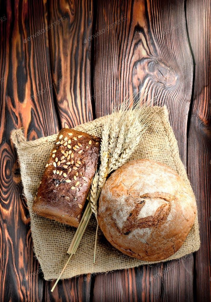 Backwaren und Weizen