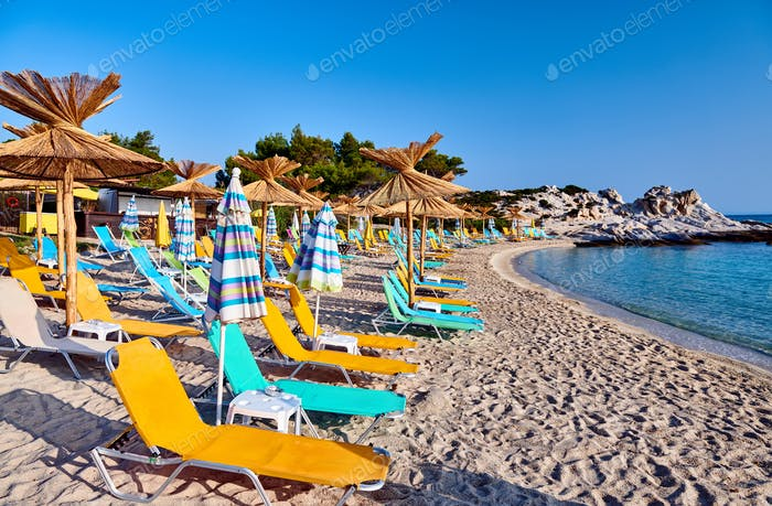 Beautiful Orange beach in Sithonia