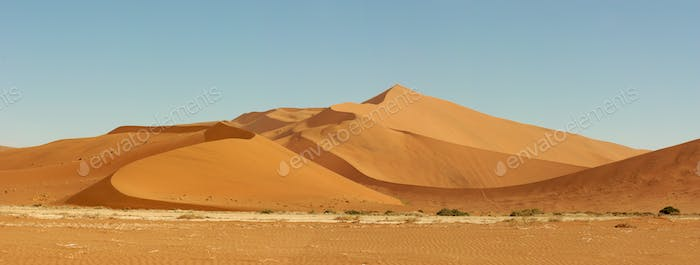 Desert of Sossusvlei in Namibia