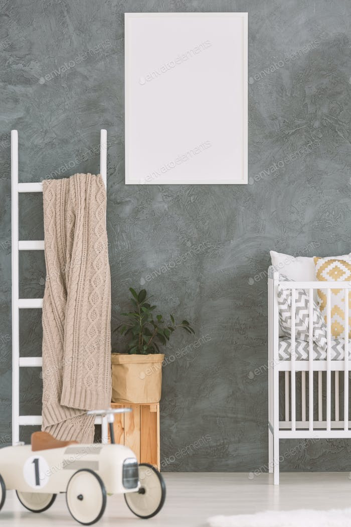 Child bedroom in scandi style