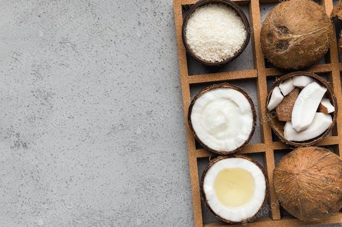 Kokosnuss-Produkte