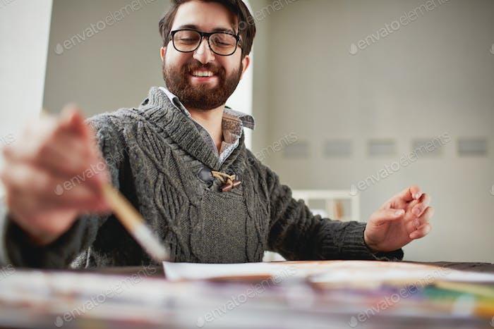 Счастливый художник