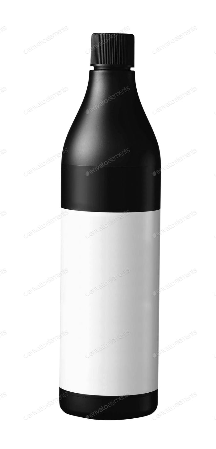 Medical bottle of brown color isolated on white background