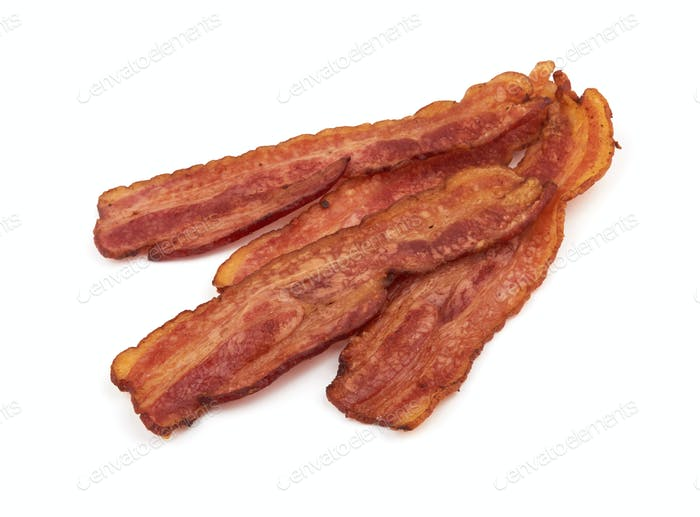 bacon on white