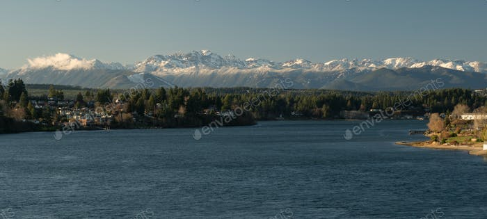 Olympic Mountains Puget Sound Bremerton Washington
