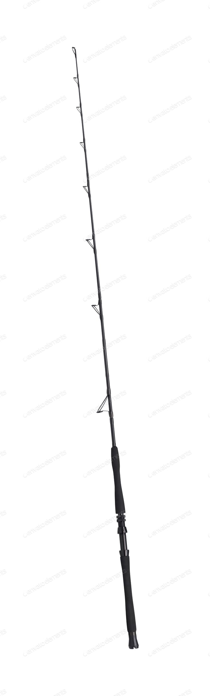 Spinning rod for fishing isolated