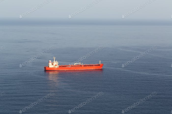 tanker ship at sea