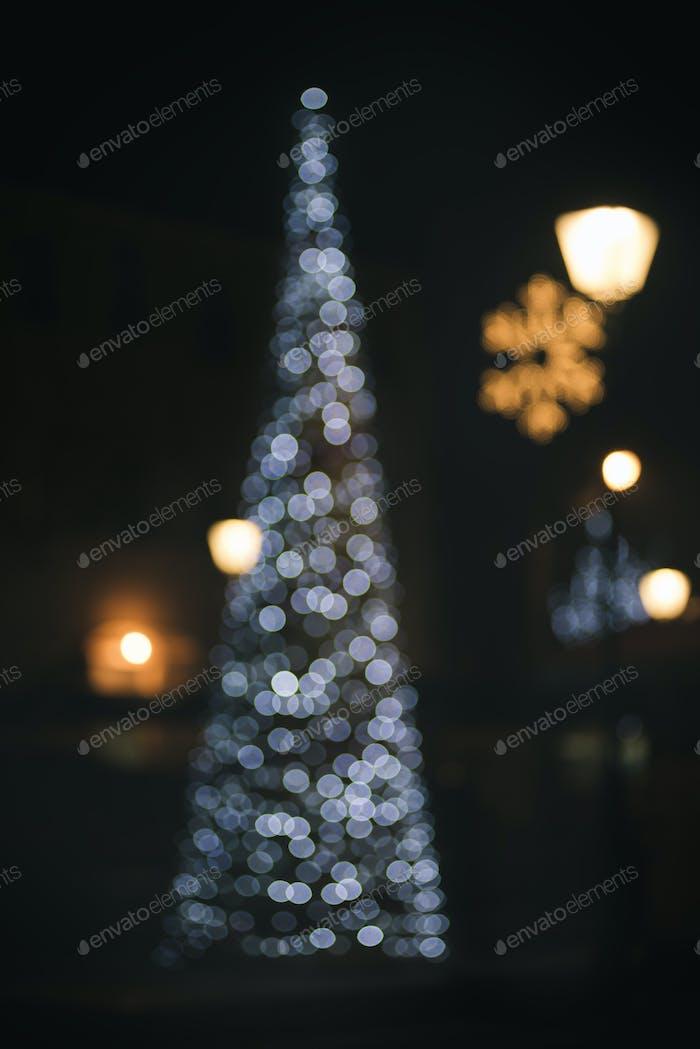 Weihnachtsbaum Bokeh Licht