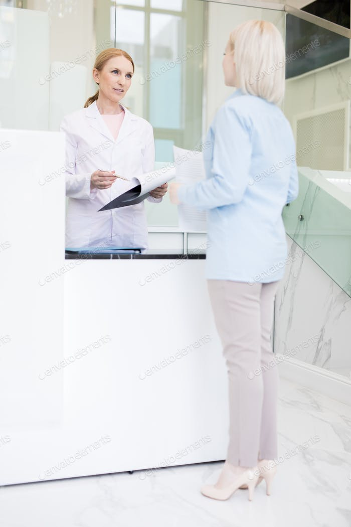 Talking to pharmacist