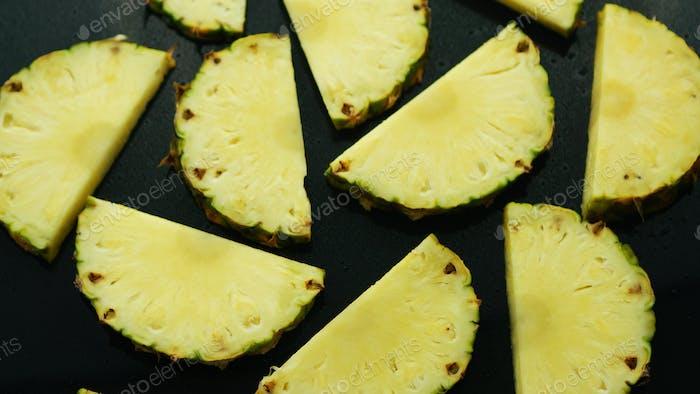 Half cut pineapple pieces