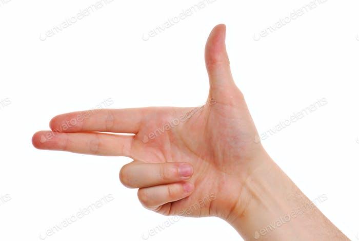 Gun gesture