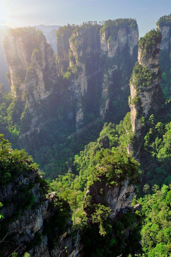 Zhangjiajie Berge, China