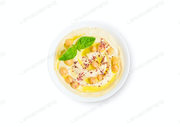 Isolated hummus bowl