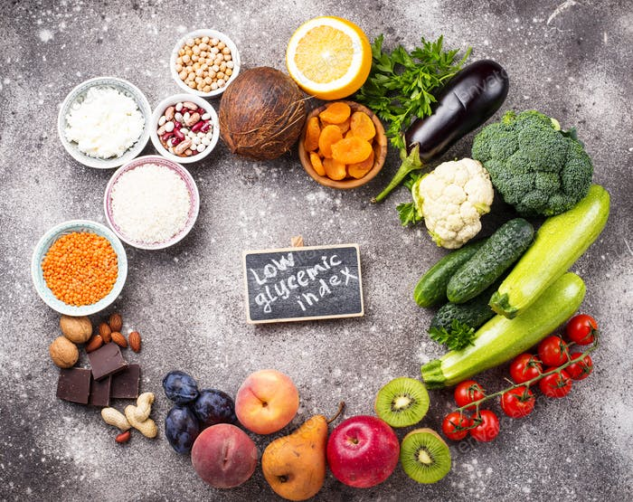 Products with low glycemic index