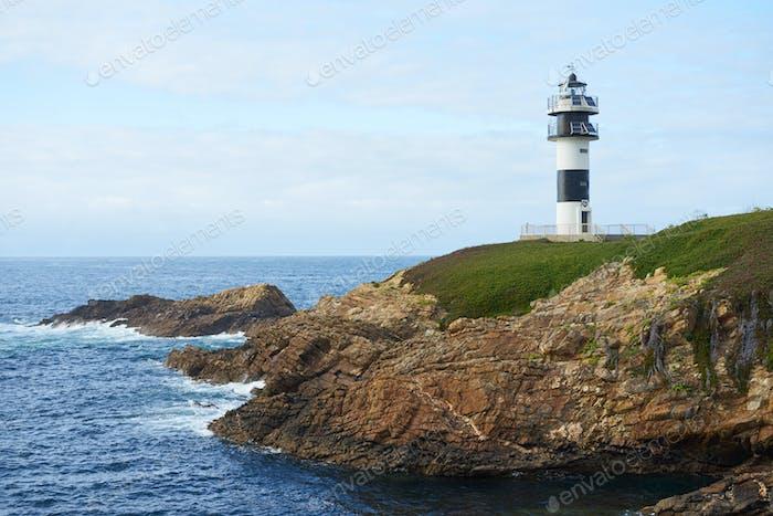 Illa Pancha lighthouse in Ribadeo, Galicia, Spain