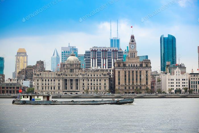 shanghai landscape of old building