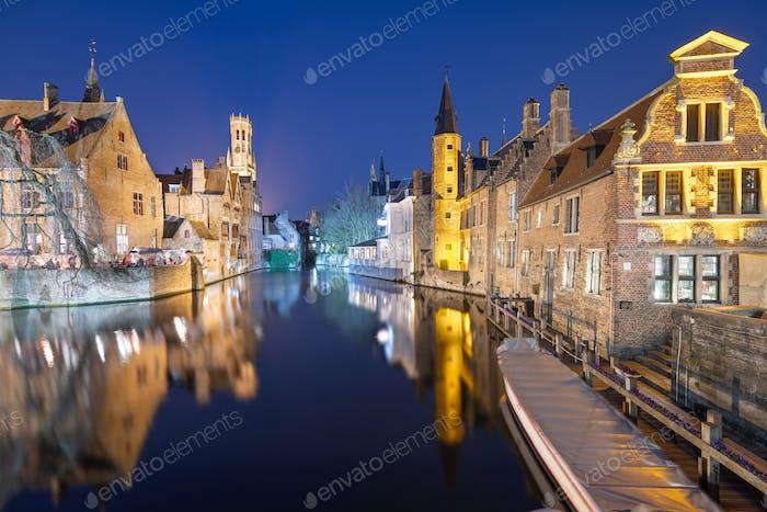 Brügge, Belgien Nachtszene