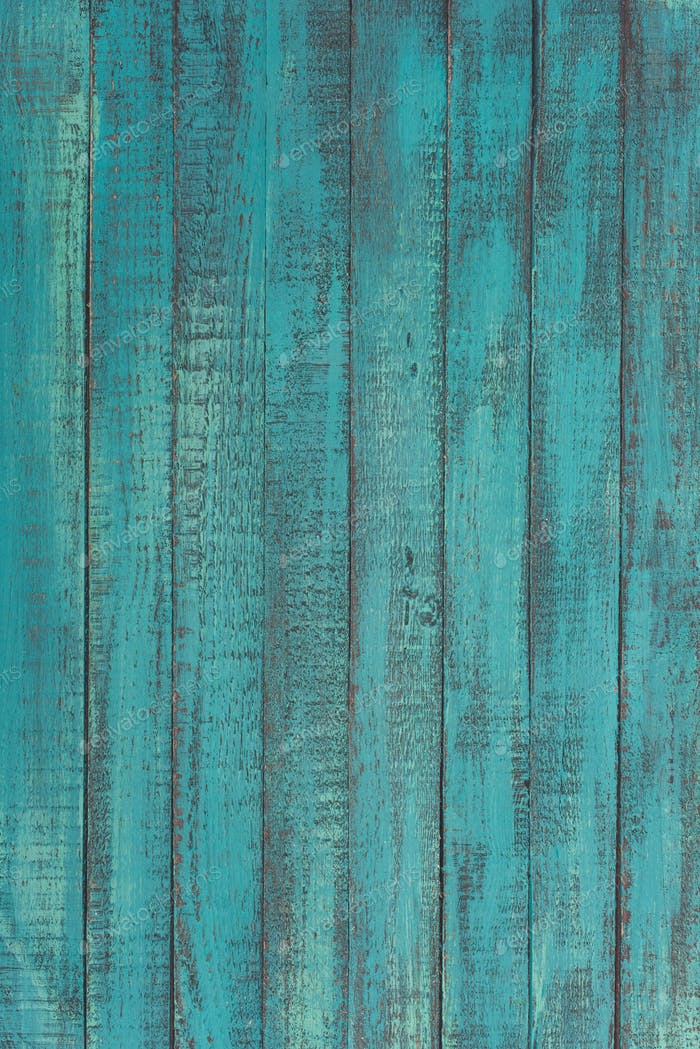 textured decorative turquoise wooden background