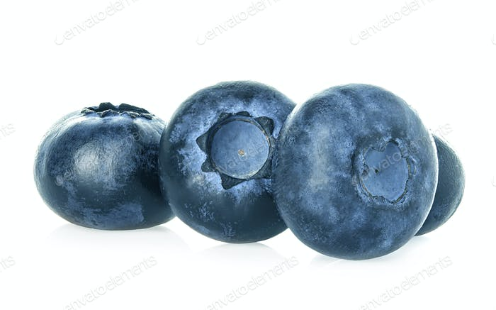 Blueberries isolated on a white background.
