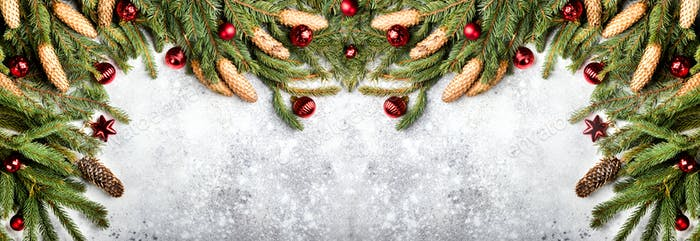 Christmas Background Concept Banner