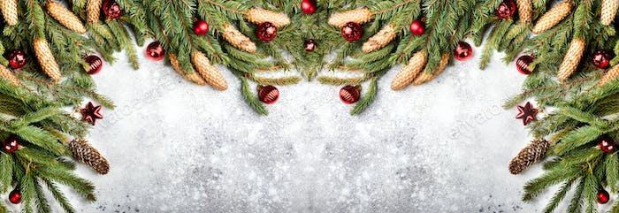 Weihnachts-Hintergrund-Konzept-Banner