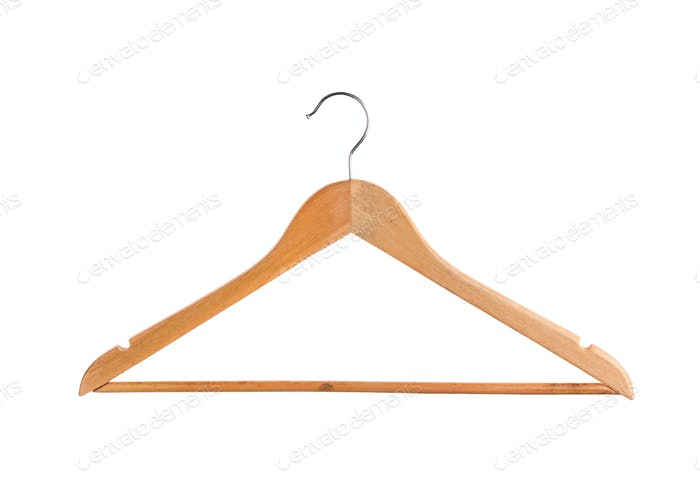 Coat hanger isolated on white background