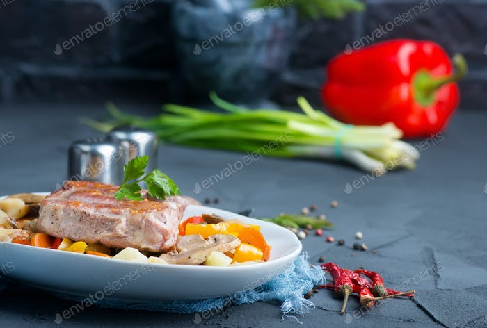 vegetables with meat