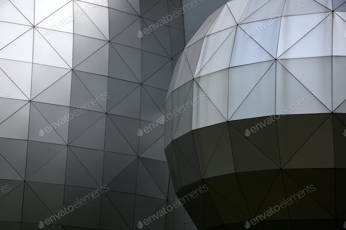 The geometric shape metallic background