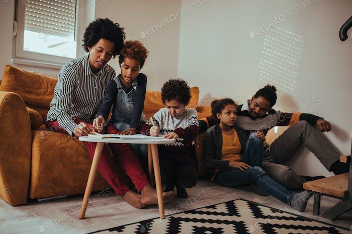 Playtime com os pais em casa