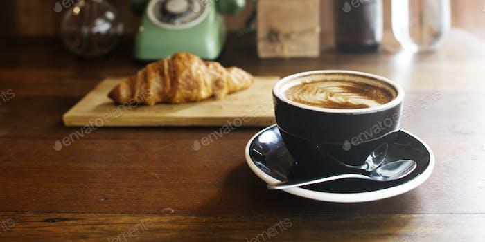 Coffee Croissant Braekfast Refreshness Concept