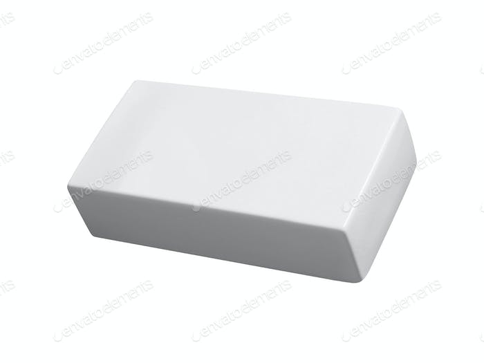 white ceramic tile on isolated background