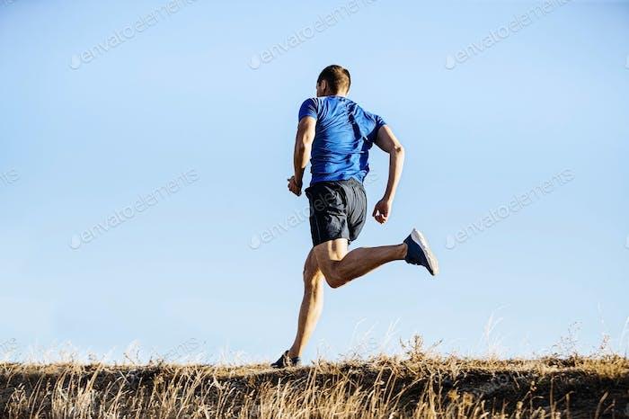 back male runner run