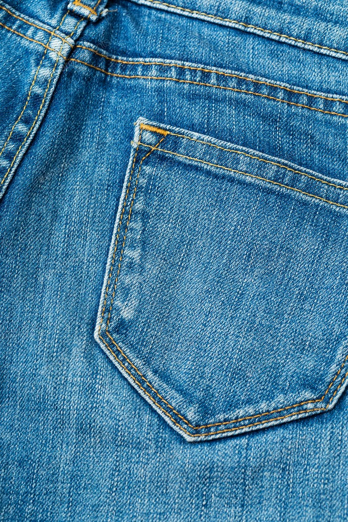 Jeans pocket at the back