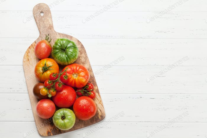 Fresh garden colorful tomatoes