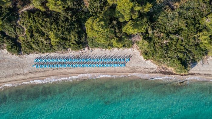 Kriopigi Strand. Kassandra von Halkidiki Halbinsel, Griechenland