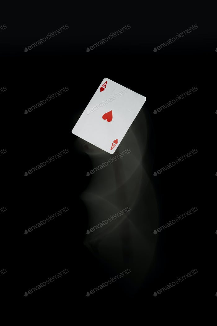 Ace card with motion blur