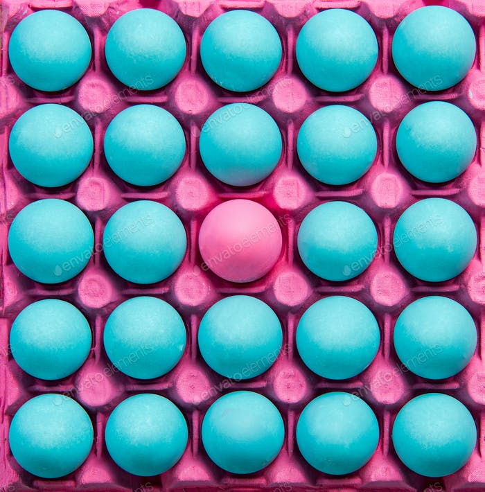 Be different creative visual art, pastel eggs