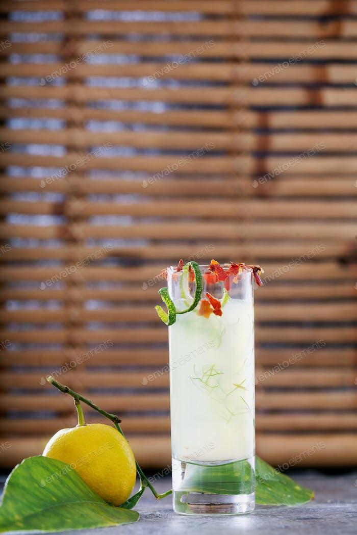Ginger lemon shot. Immune boosting health defending drink.