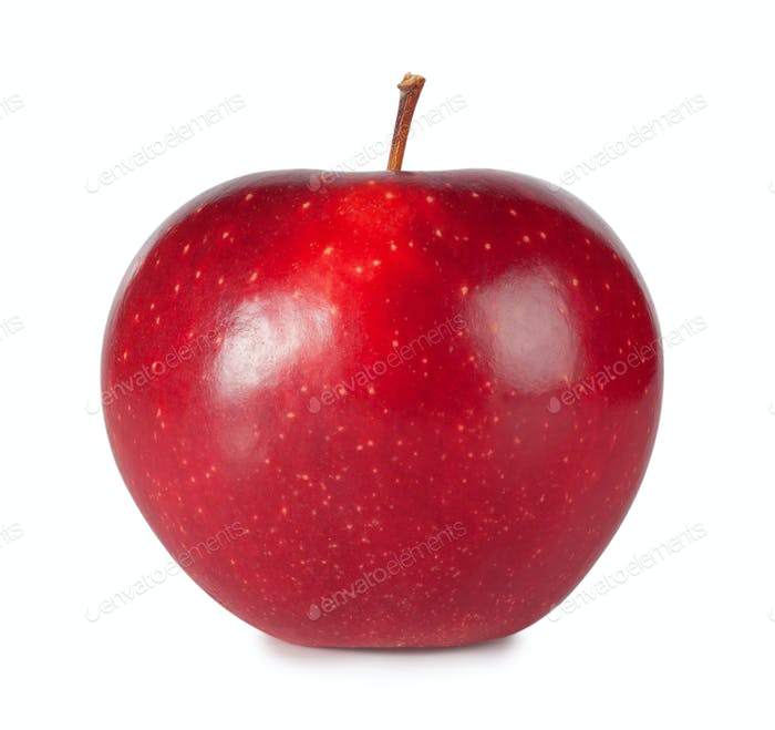 Sweet ripe red apple