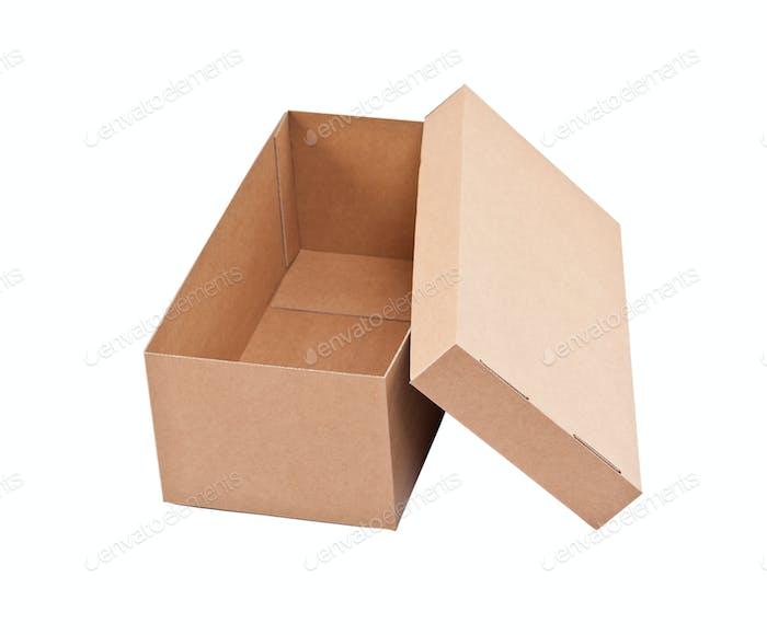 Offene Kartonschachtel