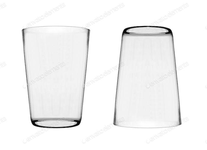 Gläser isoliert