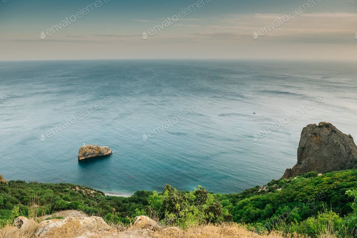 The mountains of Cape Fiolent in Crimea